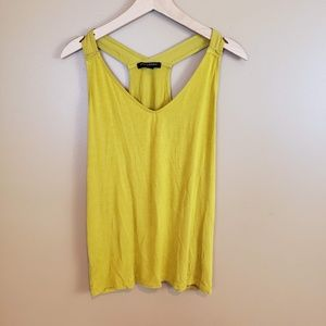 Banana Republic yellow racerback tank